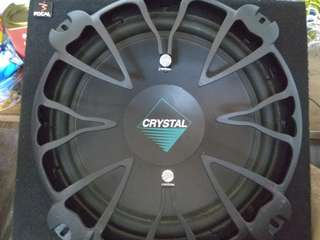 "CRYSTAL 12"" SUBWOOFER WITH BOX"