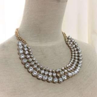 Preloved Fashion Statement Necklace / kalung zara