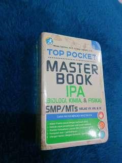 BUKU PINTAR IPA !! Top pocket master IPA bio,kimia,fisika kelas 7,8,9