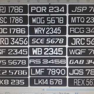 New Design Number Plates