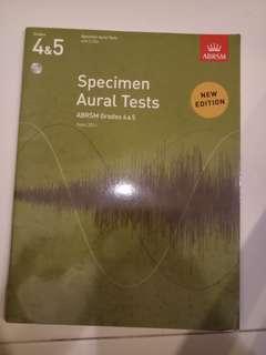 ABRSM grade 4 and 5 with cd specimen aural tests