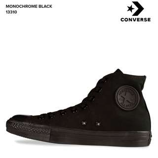 REDUCED! Converse All Black High Top Mens Size 10.5