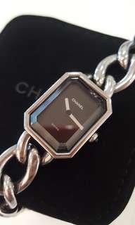 Authentic Chanel premiere watch S M L silver