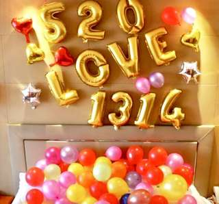 Party Letter Number Foil Balloons