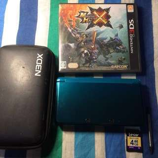 Japan Region Old 3DS Regular with Monster Hunter X (Cross)