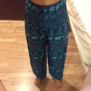 Brand New Thai Elephant Pants (Blue)