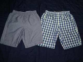 Uniqlo shorts for boys (sizeM & L) P280 for both