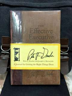 《Preloved Hardcover + How To Be A Better Leader And How To Lead According To The 5 Main Pillars Of Drucker's Leadership Philosophy》THE EFFECTIVE EXECUTIVE IN ACTION : A Journal for Getting the Right Things Done