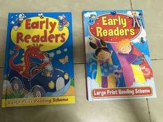 Early readers- Large print reading scheme