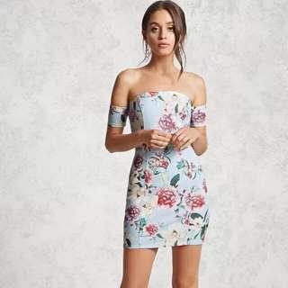 Forever 21 Floral Offshoulder Dress (Bnew with TAG)