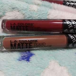 Authentic LA COLORS Matte liquid lip color