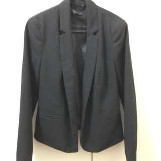 TOPSHOP Black coat/ blazer/ jacket/ vest