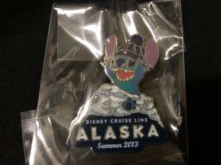 迪士尼 徽章 DISNEY PIN Disney Cruise Line ALASKA 2013 STITCH 史迪