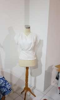 Tied white kimono