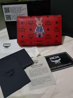 Pamigay SALE Authentic MCM red medium trifold wallet