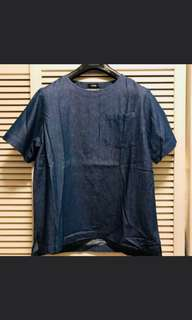 Denim Indigo Tee T shirt 藏藍牛仔 短袖
