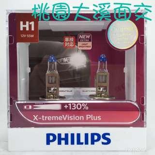 桃園我最便宜 PHILIPS X-tremeVision Plus +130% (H1) 12V 55W 12258XVP 夜勁光 鹵素燈泡