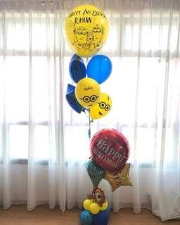 Minion customised balloon bouquet