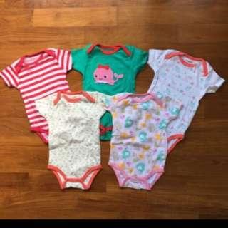 Carter Bodysuits (6 months)