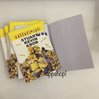 Minions booklet- goody bag gift