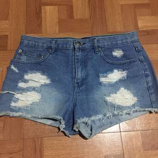 F21 Ripped Highwaist Shorts