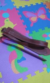 leather brown belt