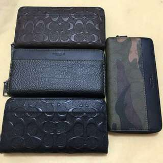 COACH MENS LONG WALLET