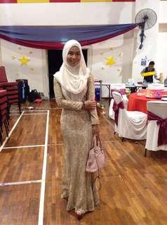 (RENT) Zalia Gold Metallic Dress