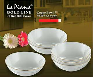 Gold Line Coupe Bowl 7'' (6 biji)