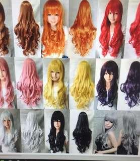 Long curly big wavy hair resistant Peruma long cosplay wig
