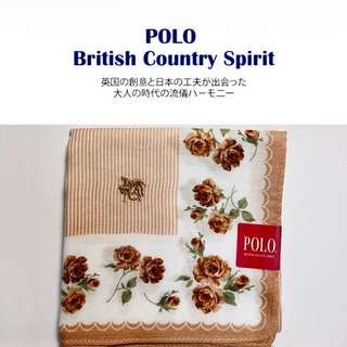 POLO British Country Spirit 刺繡花邊純棉手帕