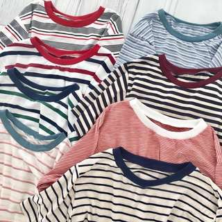 90's Striped Tops