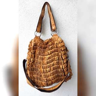 FUR COWHIDE GENUINE LEATHER BAG