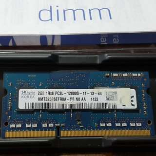 2GB RAM 12800s laptop hynix
