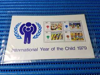 Singapore Miniature Sheet International Year of the Child 1979 Commemorative Stamp Issue