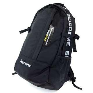 正貨有門市Supreme Backpack 18ss black