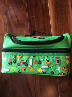 Authentic Smiggle Lunchbox Croc Biker Color Green