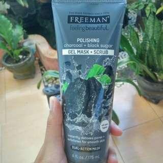 Freeman Polishing Charcoal + Black Sugar (Gel Mask + Scrub)