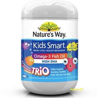 『澳洲原裝進口』Nature's Way Kids Smart omega-3+魚油  180顆