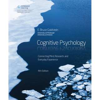Cognitive Psychology Connecting Mind, Research, and Everyday Experience 4th edition