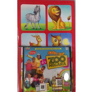 Satu Hari Di Zoo Negara VCD With Animals Learning Card