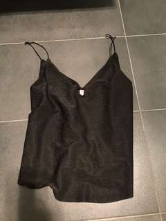 Black sparkly top