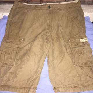 UNIONBAY brown plus size men cargo shorts W40