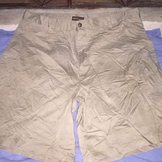 CAMBRIDGE khaki plus size men walking shorts W40