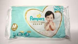 Pampers Ichiban 紙尿片 M碼 20片 + 56片 濕紙巾 一包