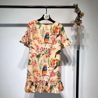 🔥 Vintage Flowers and Birds European Dress