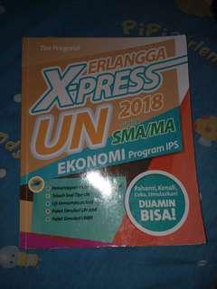 Buku Erlangga X-Press UN 2018 untuk SMA/MA Ekonomi IPS