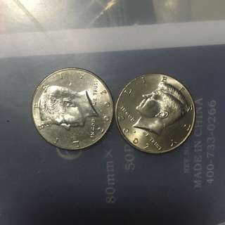 US Half dollar in mint condition