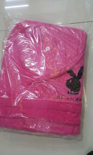 Play boy 100 % Cotton Terry Mens Ladies Dressing Gown Towelling Robe Bath Bathrobe
