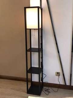 Floor lamp and shelf 2-in-1